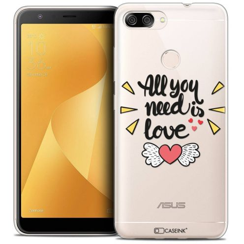 """Coque Crystal Gel Asus Zenfone Max Plus (M1) ZB570TL (5.7"""") Extra Fine Love - All U Need Is"""