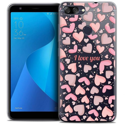 """Coque Crystal Gel Asus Zenfone Max Plus (M1) ZB570TL (5.7"""") Extra Fine Love - I Love You"""