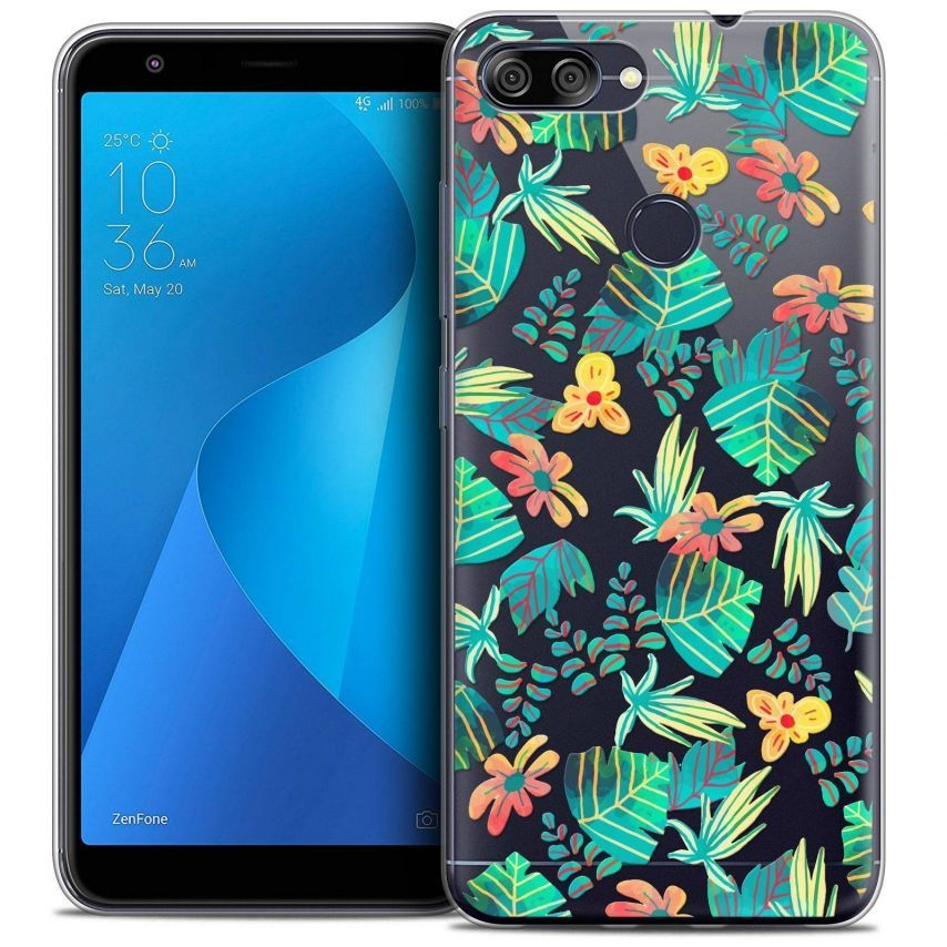 """Coque Crystal Gel Asus Zenfone Max Plus (M1) ZB570TL (5.7"""") Extra Fine Spring - Tropical"""