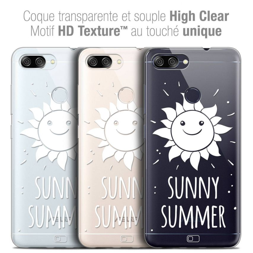 """Coque Crystal Gel Asus Zenfone Max Plus (M1) ZB570TL (5.7"""") Extra Fine Summer - Sunny Summer"""