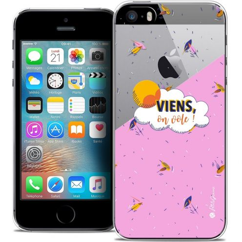 Extra Slim Crystal iPhone 5/5s/SE Case Petits Grains® VIENS, On Vole !