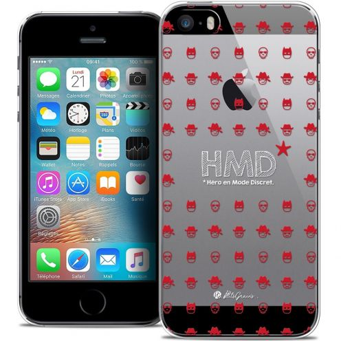 Extra Slim Crystal iPhone 5/5s/SE Case Petits Grains® HMD* Hero en Mode Discret