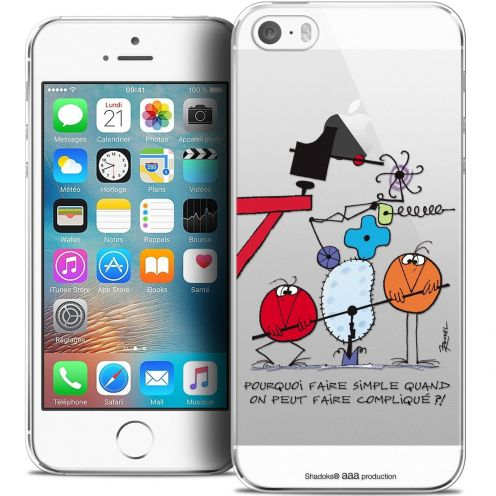 Coque iPhone 5/5s/SE Extra Fine Les Shadoks® - Pourquoi faire Simple