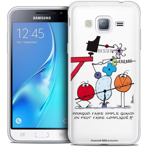 Coque Samsung Galaxy J3 2016 (J320) Extra Fine Les Shadoks® - Pourquoi faire Simple