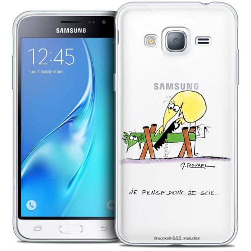 Coque Samsung Galaxy J3 2016 (J320) Extra Fine Les Shadoks® - Je pense Donc