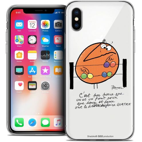 Extra Slim Crystal Gel Apple iPhone X (10) Case Les Shadoks® Mathématique