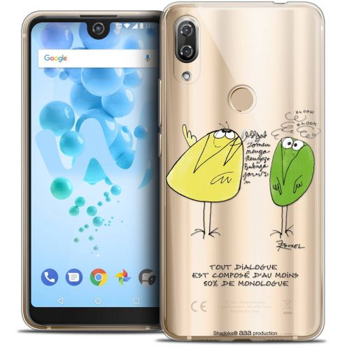 """Extra Slim Crystal Gel Wiko View 2 PRO (6.0"""") Case Les Shadoks® Le Dialogue"""