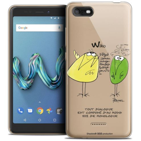 """Coque Gel Wiko Tommy 3 (5.45"""") Extra Fine Les Shadoks® - Le Dialogue"""