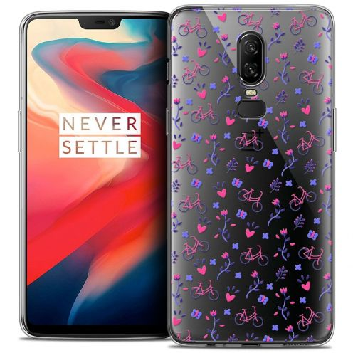 """Coque Crystal Gel OnePlus 6 (6.28"""") Extra Fine Love - Bicycle"""