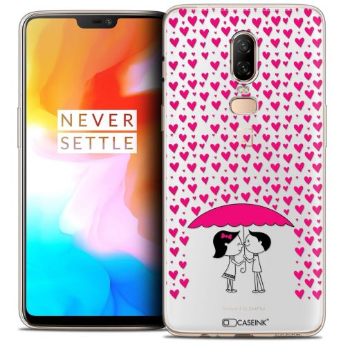 """Coque Crystal Gel OnePlus 6 (6.28"""") Extra Fine Love - Pluie d'Amour"""