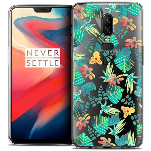 """Coque Crystal Gel OnePlus 6 (6.28"""") Extra Fine Spring - Tropical"""