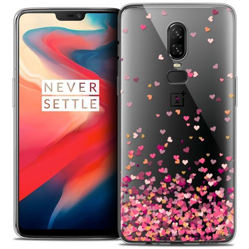 """Coque Crystal Gel OnePlus 6 (6.28"""") Extra Fine Sweetie - Heart Flakes"""