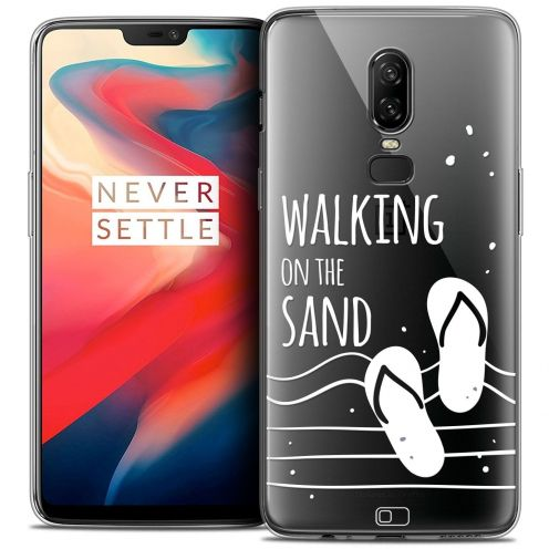 """Coque Crystal Gel OnePlus 6 (6.28"""") Extra Fine Summer - Walking on the Sand"""