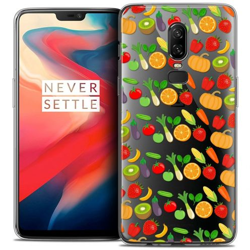 """Coque Crystal Gel OnePlus 6 (6.28"""") Extra Fine Foodie - Healthy"""