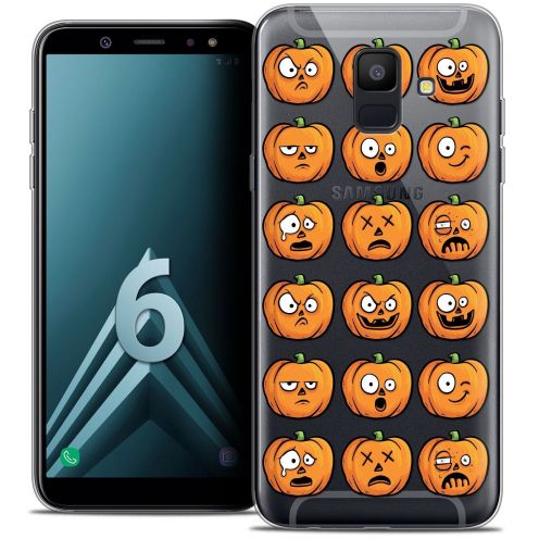 "Coque Crystal Gel Samsung Galaxy A6 2018 (5.45"") Extra Fine Halloween - Cartoon Citrouille"
