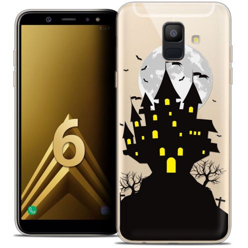 "Coque Crystal Gel Samsung Galaxy A6 2018 (5.45"") Extra Fine Halloween - Castle Scream"