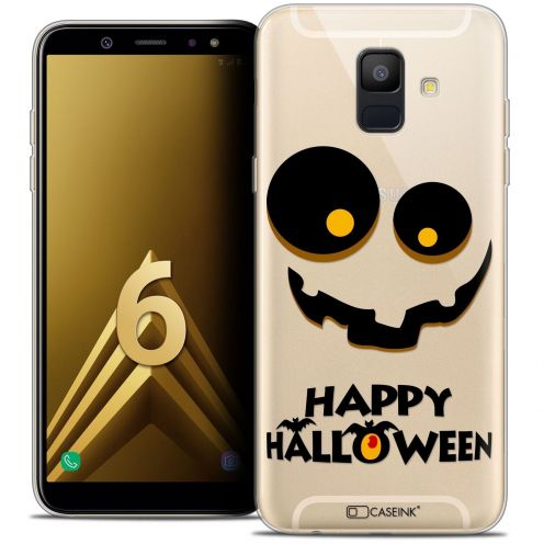 "Coque Crystal Gel Samsung Galaxy A6 2018 (5.45"") Extra Fine Halloween - Happy"