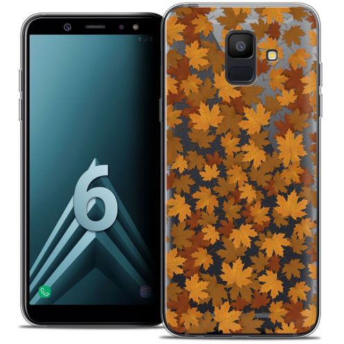 "Coque Crystal Gel Samsung Galaxy A6 2018 (5.45"") Extra Fine Autumn 16 - Feuilles"