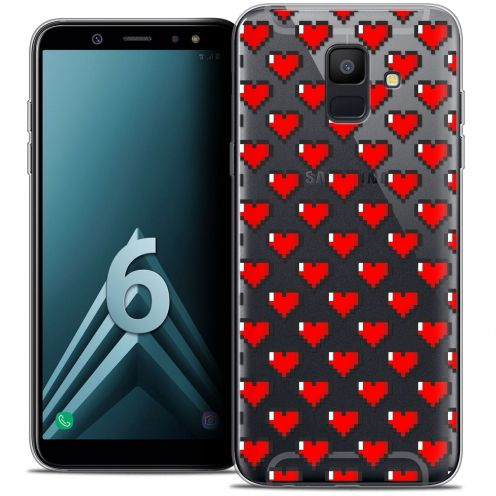 "Coque Crystal Gel Samsung Galaxy A6 2018 (5.45"") Extra Fine Love - Pixel Art"