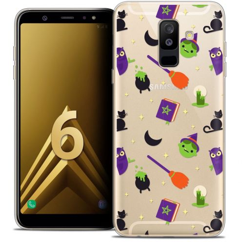 "Coque Crystal Gel Samsung Galaxy A6 PLUS 2018 (6"") Extra Fine Halloween - Witch Potter"