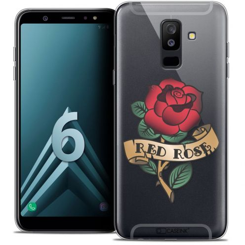 """Coque Crystal Gel Samsung Galaxy A6 PLUS 2018 (6"""") Extra Fine Tatoo Lover - Red Rose"""