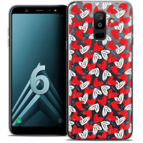 "Coque Crystal Gel Samsung Galaxy A6 PLUS 2018 (6"") Extra Fine Love - With Love"