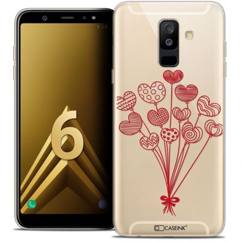 "Coque Crystal Gel Samsung Galaxy A6 PLUS 2018 (6"") Extra Fine Love - Ballons d'amour"