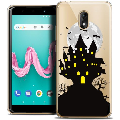 "Coque Crystal Gel Wiko Lenny 5 (5.7"") Extra Fine Halloween - Castle Scream"