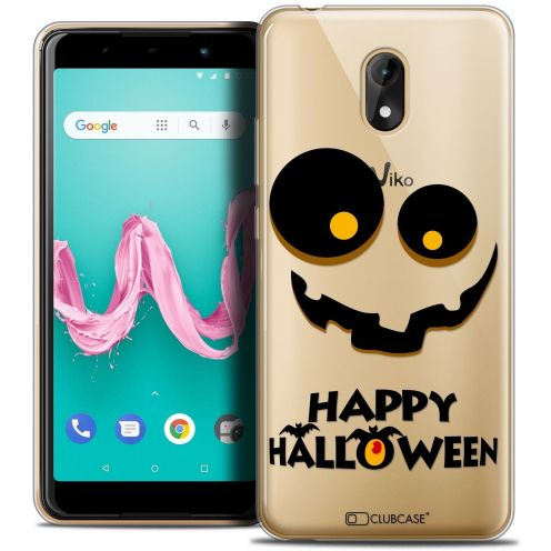 "Coque Crystal Gel Wiko Lenny 5 (5.7"") Extra Fine Halloween - Happy"