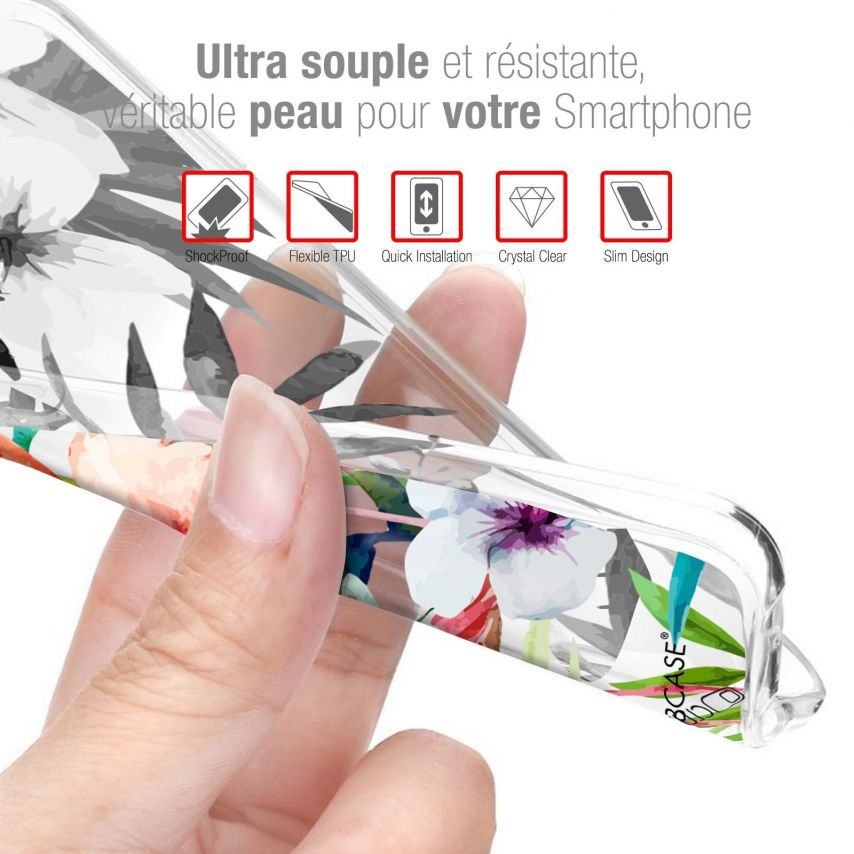 """Coque Crystal Gel Wiko Lenny 5 (5.7"""") Extra Fine Pattern - Les flamants Roses"""