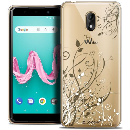 "Coque Crystal Gel Wiko Lenny 5 (5.7"") Extra Fine Love - Hearts Flowers"