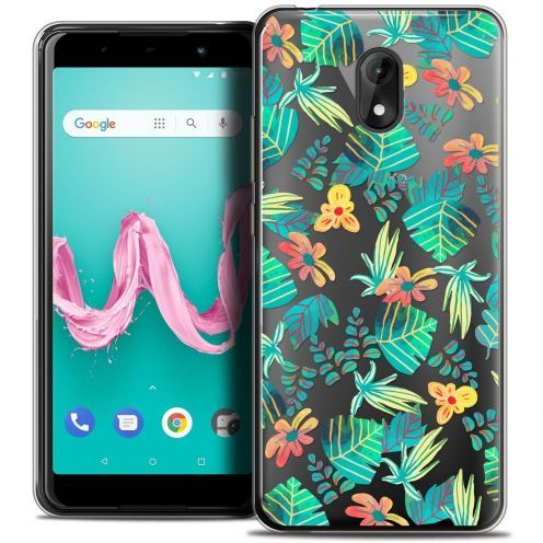 "Coque Crystal Gel Wiko Lenny 5 (5.7"") Extra Fine Spring - Tropical"