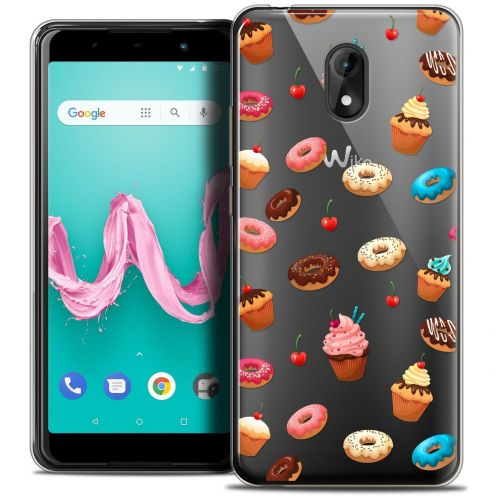 """Coque Crystal Gel Wiko Lenny 5 (5.7"""") Extra Fine Foodie - Donuts"""