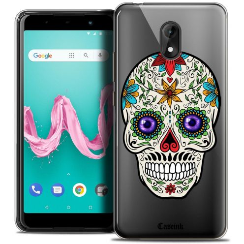 """Coque Crystal Gel Wiko Lenny 5 (5.7"""") Extra Fine Skull - Maria's Flower"""