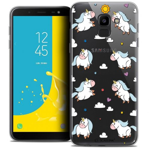 "Extra Slim Crystal Gel Samsung Galaxy J6 2018 J600 (5.6"") Case Fantasia Licorne In the Sky"