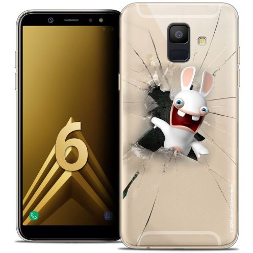 """Coque Gel Samsung Galaxy A6 2018 (5.45"""") Extra Fine Lapins Crétins™ - Breaking Glass"""