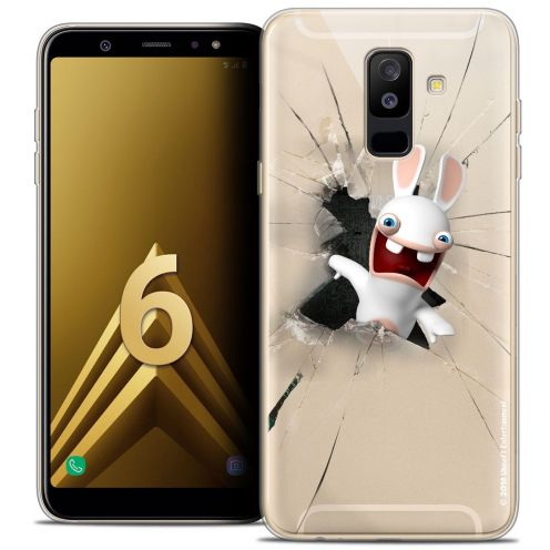 "Coque Gel Samsung Galaxy A6 PLUS 2018 (6"") Extra Fine Lapins Crétins™ - Breaking Glass"