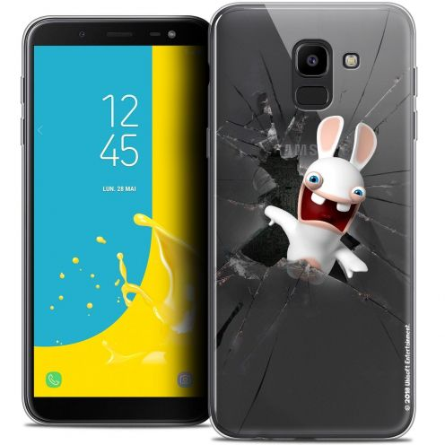 "Coque Gel Samsung Galaxy J6 2018 J600 (5.6"") Extra Fine Lapins Crétins™ - Breaking Glass"