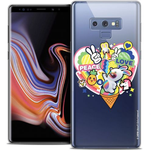 "Coque Gel Samsung Galaxy Note 9 (6.4"") Extra Fine Lapins Crétins™ - Peace And Love"