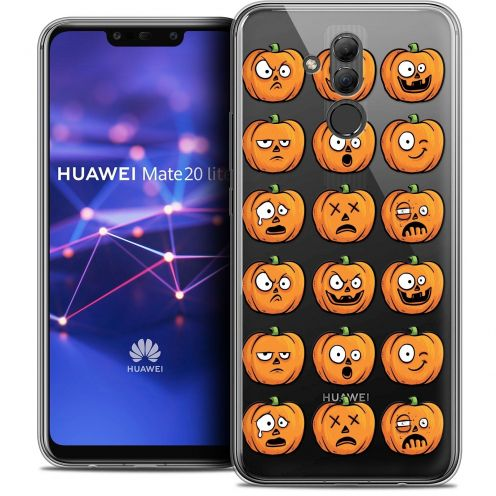"Coque Crystal Gel Huawei Mate 20 Lite (6.3"") Extra Fine Halloween - Cartoon Citrouille"