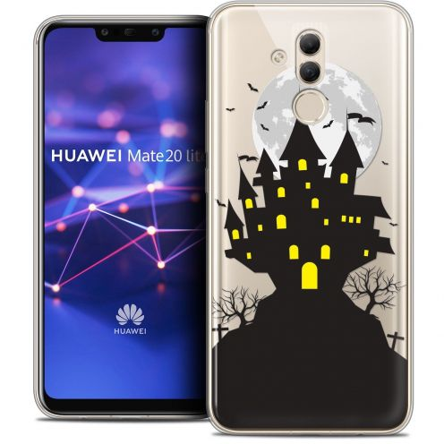 "Extra Slim Crystal Gel Huawei Mate 20 Lite (6.3"") Case Halloween Castle Scream"