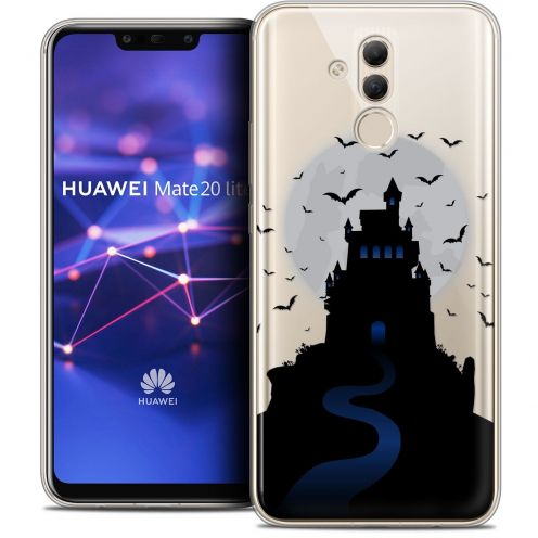 "Extra Slim Crystal Gel Huawei Mate 20 Lite (6.3"") Case Halloween Castle Nightmare"