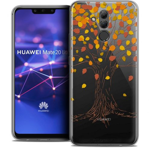"Extra Slim Crystal Gel Huawei Mate 20 Lite (6.3"") Case Autumn 16 Tree"