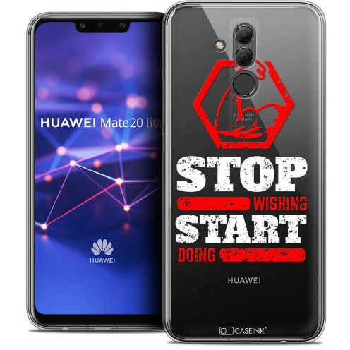 "Extra Slim Crystal Gel Huawei Mate 20 Lite (6.3"") Case Quote Start Doing"