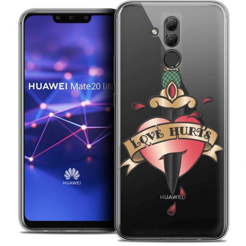 "Coque Crystal Gel Huawei Mate 20 Lite (6.3"") Extra Fine Tatoo Lover - Love Hurts"