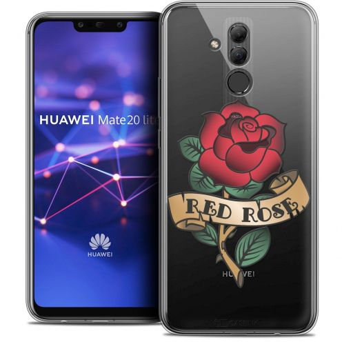 "Coque Crystal Gel Huawei Mate 20 Lite (6.3"") Extra Fine Tatoo Lover - Red Rose"
