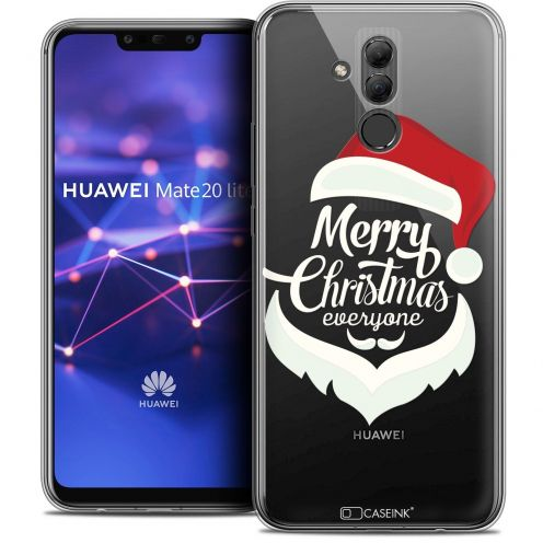 "Extra Slim Crystal Gel Huawei Mate 20 Lite (6.3"") Case Noël 2017 Merry Everyone"