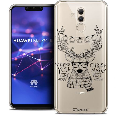 "Coque Crystal Gel Huawei Mate 20 Lite (6.3"") Extra Fine Noël 2017 - Cerf Hipster"
