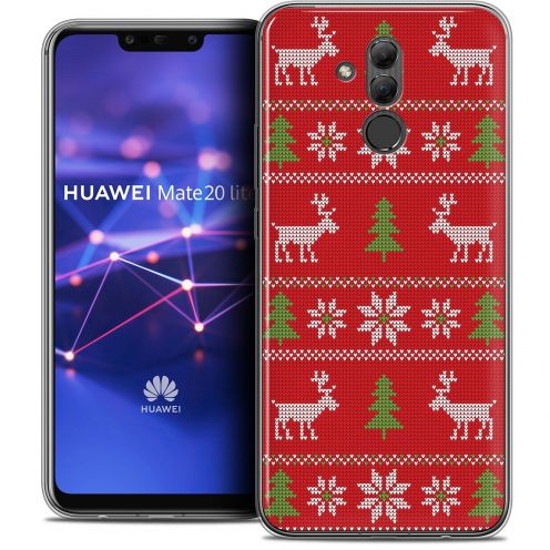"Extra Slim Crystal Gel Huawei Mate 20 Lite (6.3"") Case Noël 2017 Couture Rouge"