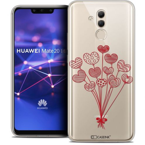 "Extra Slim Crystal Gel Huawei Mate 20 Lite (6.3"") Case Love Ballons d'amour"
